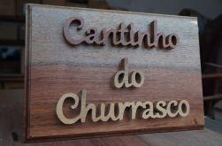Placa Cantinho do Churrasco